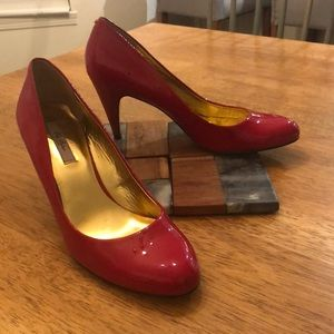 Ted Baker Red Patent Leather Heels 8.5 D1